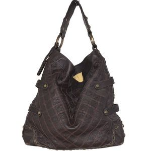 Isabella Fiore Studded Leather Hobo Purse.
